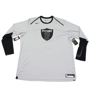 New Nike Team Issued Detroit Pistons Shirt 2XL T